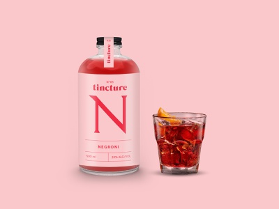 Tincture — Negroni negroni cocktails bottled cocktail typography packaging