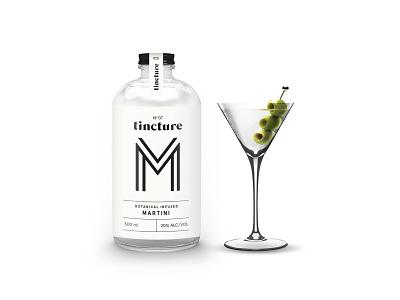 Tincture — Martini packaging design bottled cocktails typography martini cocktails packaging