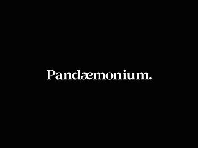 Pandaemonium Logo typography chaos branding logo pandaemonium