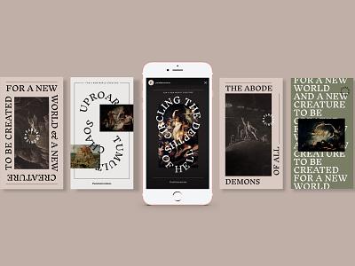 Pandaemonium Branding instagram stories social media design branding typography