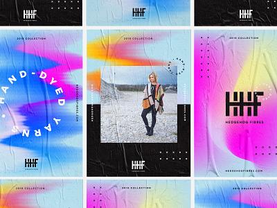 Hedgehog Fibres – Branding bright colour glitch gradient color inspiration gradient background gradient layout posters design branding