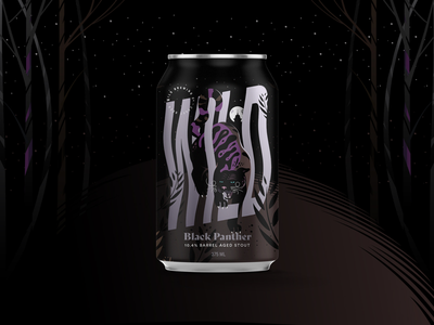 Wild Brewing Co. Black Panther packaging design beer label black panther beer packaging illustration