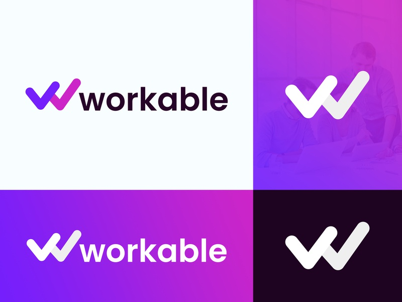 Workable Logo Design saymon studio contractor web design software media agency marketing agency letter w m logo w logo app icon marketing cryptocurrency monogram finance technology fintech brand identity blockchain branding logo design