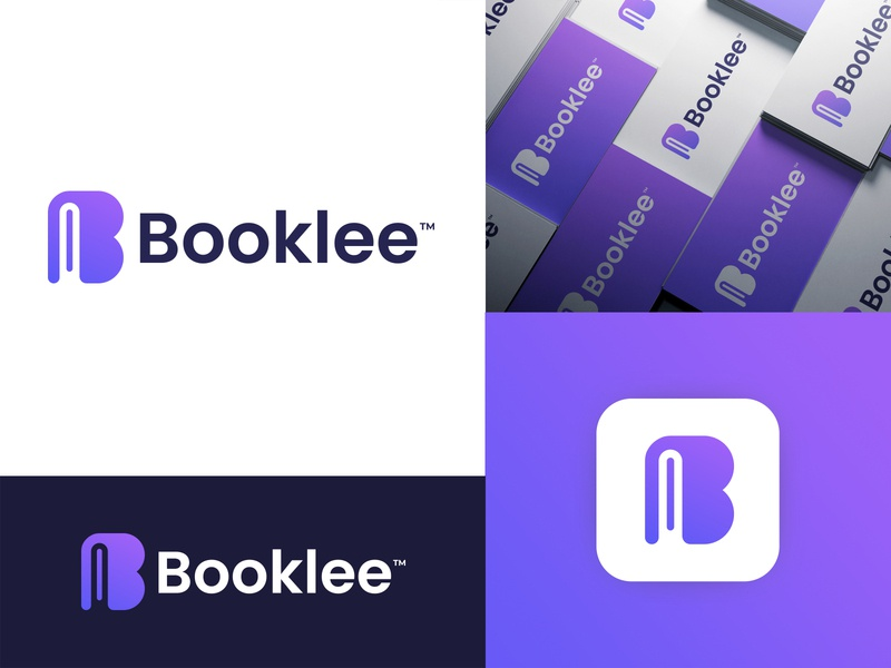 Booklee Logo Design saymon studio collage school graduation startup logo business logo branding agency knowledge digital platform e learning book student app icon app design learning education marketing brand identity branding logo design
