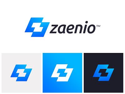 Zaenio Logo Design consulting logo finance blockchain banking app monogram z logo technology fintech branding logo design