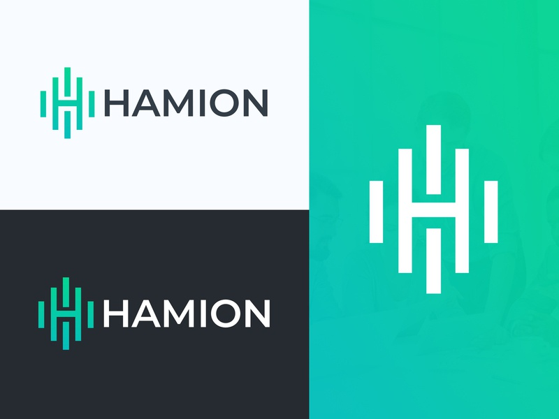 Hamion Logo apps design cryptocurrency blockchain holding coaching fintech branding monogram security finance consulting insurance logo h monogram h logo logo logo design