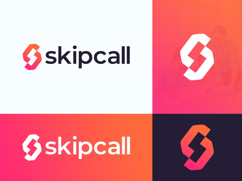 Skipcall Logo Design security chat logo modern abstract agency marketing agency app design communication phone logo s logo s monogram marketing cryptocurrency technology fintech finance blockchain branding brand identity logo design