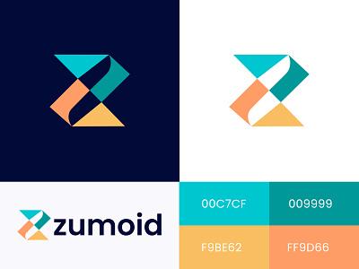 Zumoid Logo Design z logo letter z app icon consulting saymon studio media colorfull agency security tech marketing cryptocurrency monogram finance brand identity technology fintech blockchain branding logo design