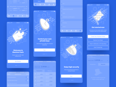 Onboarding Screens and more ux ui mobile ios button graphic wireframe shield wallet onboarding app application