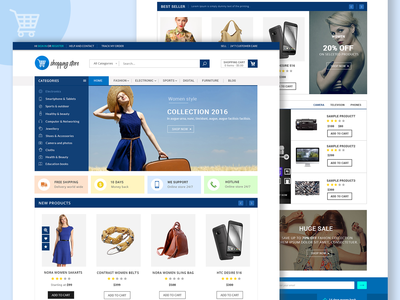 Shopping Store website design