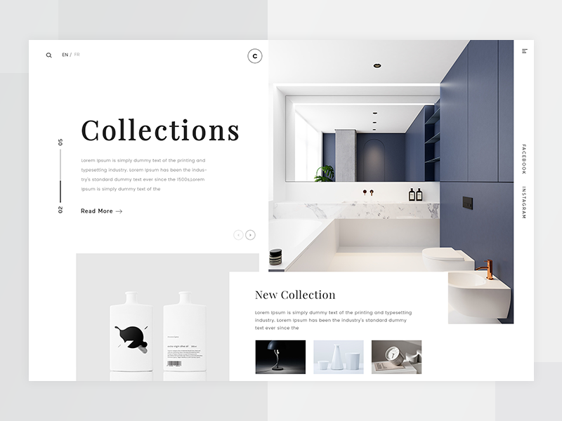 Collections webdesign ux ui page home white web design collection