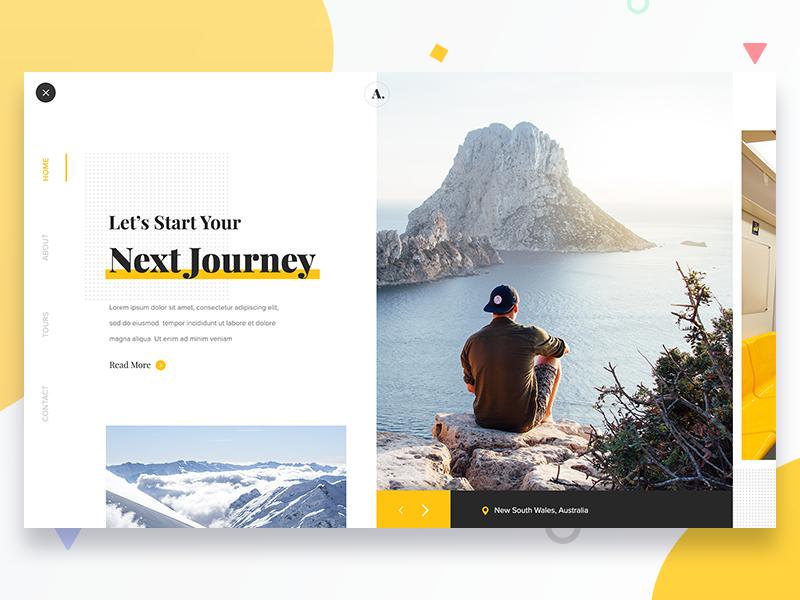 Travel website web design web ux ui inspiration tour landing page travel