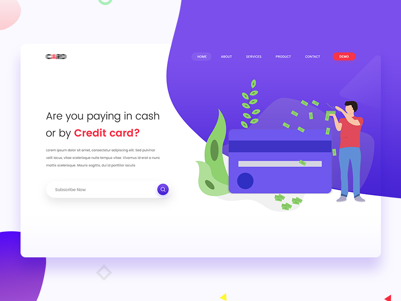 Credit Card - Landing page web design web ui ux inspiration website landing page card credit card