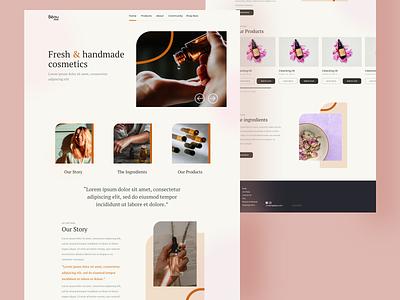 Bèau — Homepage 😋 minimalistic cosmetics site lp landing page website