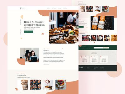 Bakery — website concept 🧚♂️ shapes colors minimalistic bakery website lp