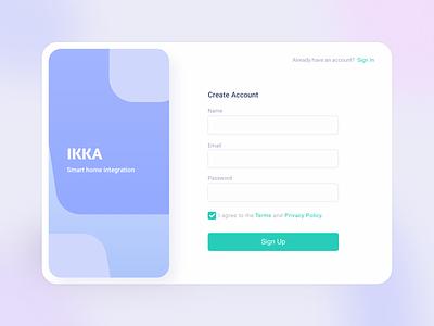 Simple Sign Up ✨ desktopapp startscreen createaccount signup