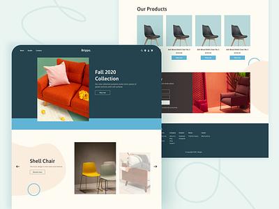 Minimalistic Homepage  🛋️ ui autumn chair furniture homepage