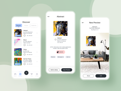 Art Preview App  🎨 ux ui appdesign app mobile preview art