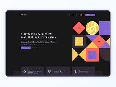 Landing Page: HUBOXT illustration ui design page landing ui