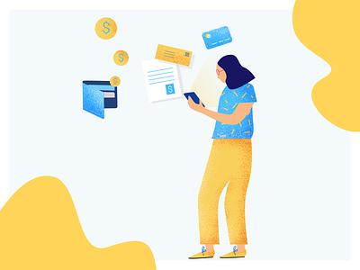 Account Balance financial app illustration app stoovo stoovo app