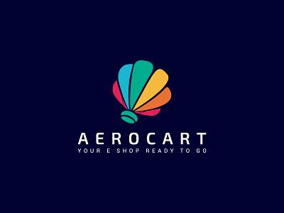 AeroCart unique logo creative logo basket airballoon ecommerce eshop illustration branding logodesign design logo branding design brand design