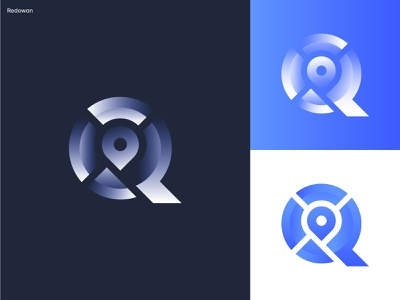Letter Q + Map colorful gradient logo symbol monogram logo city tracker road location pin map logo logotype logodesign branding