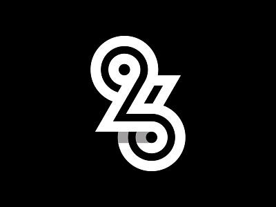 26 number 26 typography logotype logo minimal branding