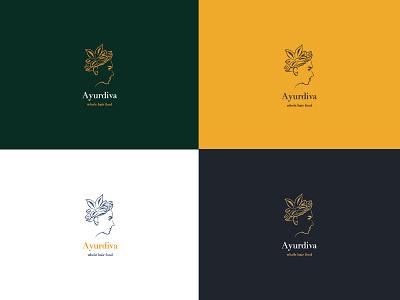 Ayurdiva logo concept logolove minimal branding cosmetic logotype medical girlboss logo design logo ayurvedic ayurveda