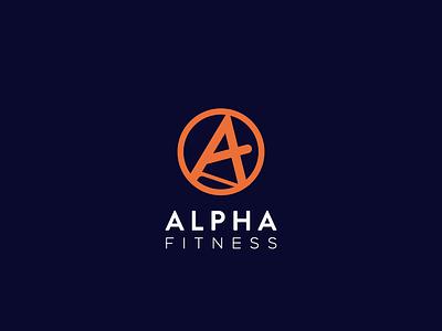 Alpha Fitness Logo Design concept icon physical fitness physical logo illustration 99design design typography minimal logolove logodesign logo