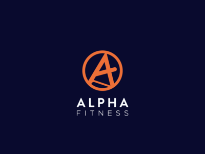 Alpha Fitness Logo Design concept