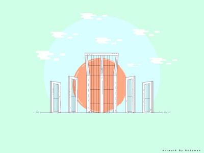 Shaheed Minar, Dhaka illustration