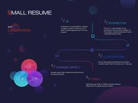 Resume, see?