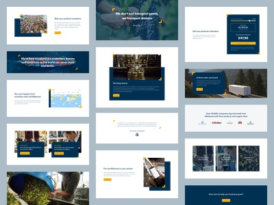 Hillebrand Components design system components banners widgets website design shipping transport freight forwarding myhillebrand hillebrand