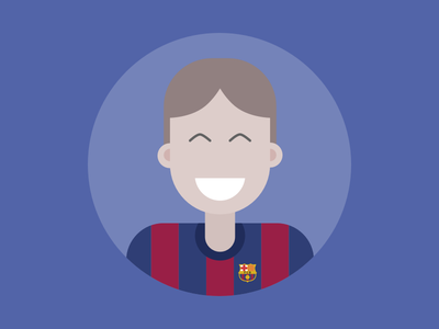 Barça Avatar barca fc barcelona avatar flat illustration character football soccer fifa barcelona