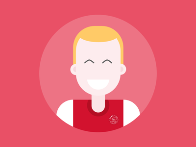 Ajax Avatar ajax afca ajax amsterdam avatar flat illustration character football soccer fifa