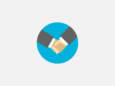 Direct Campaigns icon deal hands handshake campaign illustration rtb advertising