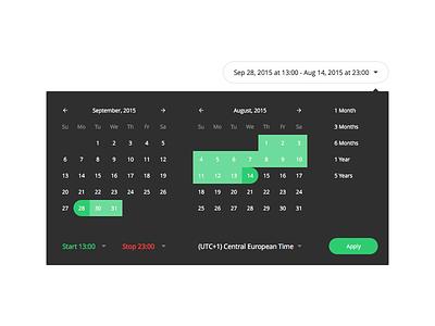Datepickers presets timezone range date-picker datepicker