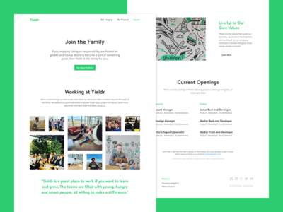 Careers at Yieldr core values benefits work instagram jobs family careers yieldr