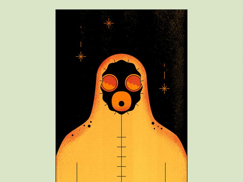 Chernobyl suite hazard hbo radiation color chernobyl adobe illustrator night 2d design animation vector illustration flat