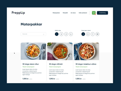 My food order uidesign cards ui process step by step delete payment overview cards packages meals icelandic blue green shopping shoppingcart dropdown popup food webshop order