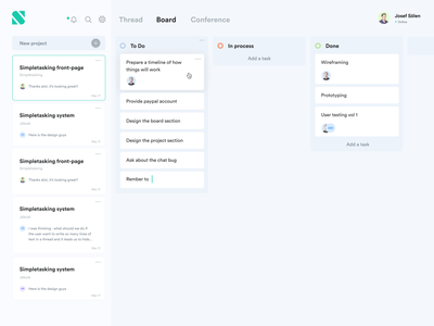 Project management tool todo app todo projects uidesign trello asana ui board projectmanagement