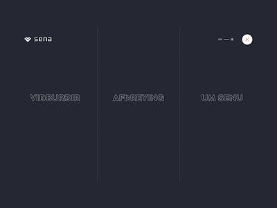Super navigation for Sena iceland uidesign navigation menu animation navanimation sena events hamburger hamburger menu navigation nav