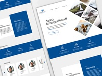 Landing page for an Icelandic pension fund
