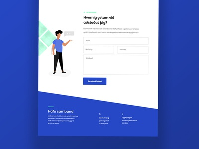 Footer design data blue iceland contact page contact us illustration contact form footer