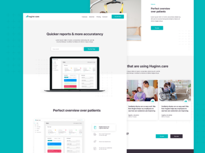 Landing Page for Huginn Care