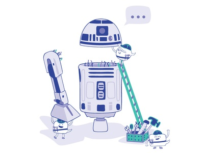Building your first chatbot app message automation conversational commerce robot blog post star wars r2d2 chat bubble vector illustration chatbot