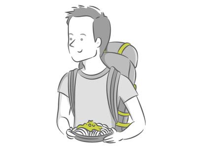 Team Member Illustration - Rafael // Mobsuite
