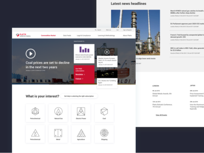 Landing page for data company.