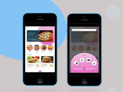 Food  &  Restaurant Mobile Apps Design