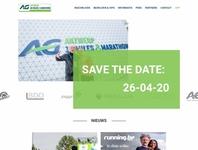 Antwerp 10miles & marathon - homepage concept antwerp running belgium sketch webdesign ui